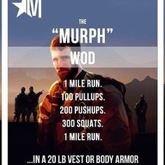 "#MEMORIALDAY #MURPH  The ""Murph"" Hero workout is not the only memorial workout you can do today. But there is a cause behind this one that we stand behind.  This is a very long workout and a lot of prep and recovery is needed. But we wanna feature anyone who has done this workout this weekend or today in honor of Memorial Day.  ________________________________________  Want to be featured? Show us how you train hard and do work   Use #555fitness in your post. You can learn more about us and…"