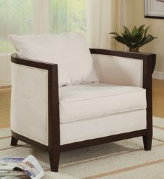 """Coaster 900282 Leisure Chair This fully upholstered barrel chair has square arms and is made for comfort with a pillow back. Specification This item includes: 900282 Leisure Chair 32""""L x 32""""W x 28""""H"""