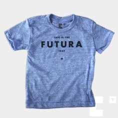 Futura - Kids T-Shirt  by The Medium Control #tee #screenprint #type
