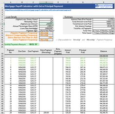 download our free mortgage payment calculator with extra principal payment excel template input