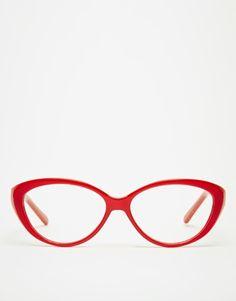 AJ Morgan Kiss Cat-Eye Glasses - Red