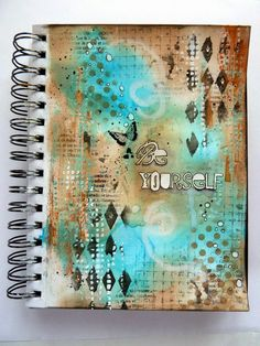 Art journal tutorial, layering different colour media