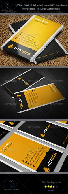 Buy Hot Idea Business Card by OWPictures on GraphicRiver. Business Card Description: Hot Idea Business Card was designed for exclusively corporate and small scale companies. Business Card Design, Business Cards, Pad Design, Corporate Branding, Name Cards, Print Templates, Booklet, Coffee Shop, Graphic Design