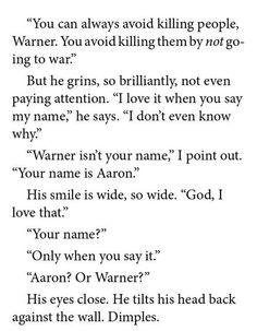 The Shatter Me trilogy, Warner and Juliette
