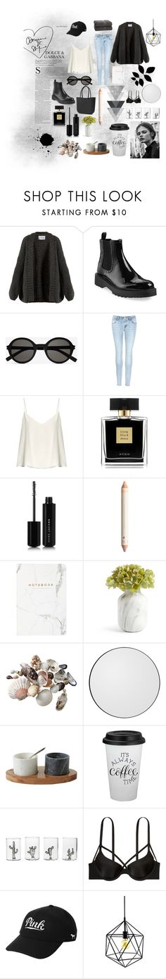 """""""Dark as coffee"""" by alancba on Polyvore featuring I Love Mr. Mittens, Prada, Yves Saint Laurent, J Brand, Raey, Avon, Marc Jacobs, Casarialto and Victoria's Secret"""