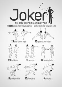 SuperHero Workout - Joker