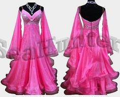 Ballroom Everday Party Watlz Tango Standard Dance Dress US 10 UK 12 Pink Color