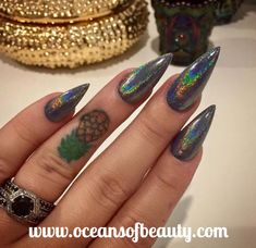Visit OceansofBeauty.com for Salon Quality done right in your own home! For updates, customer pics, contests and much more please like us on Facebook https://www.facebook.com/EZ-DIP-NAILS-1523939111191370/ #holographic #holographicnails #holographicart #dippowder #gelnails #nailpolish #mani #manicure #dippowdernails