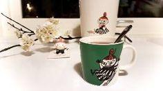 Todays Moomin mug.  Little My sliding.