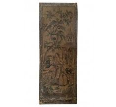 Antique 18th-Century French Chinoiserie Wallpaper Panel Front View