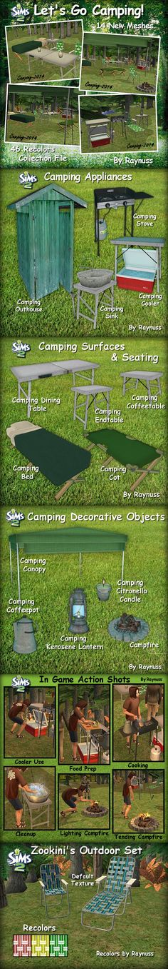 Let's Go Camping Set for The Sims 2 (TS2)