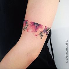 Flower sleeve height tattoo