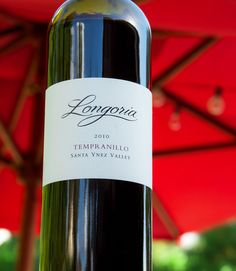 2010 Longoria Santa Ynez Valley Tempranillo Santa Ynez Valley, Santa Barbara County, In Vino Veritas, Wine Recipes, Wines, Bottle, Food, Flask, Essen