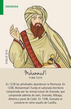 Granada: Muhammad I Spain History, World History, Art History, Art And Architecture, Knight, Reign Bash, Learn Spanish, Geography, Royals