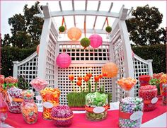 Pink, Green and Orange Candy Bar