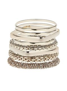 Square bangle mesh bracelet - View All New In - What's New - Dorothy Perkins