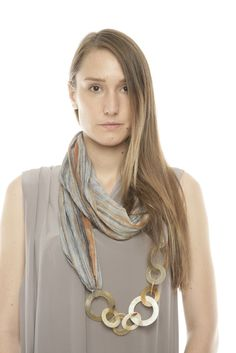 scarf with lightweight rings to add some interest. cute!