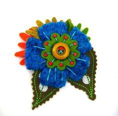 Modern textile button