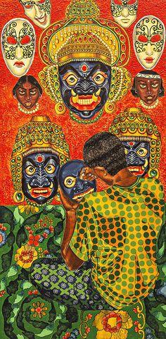 THE MAKER 2(Acrylic On Canvas)by Kajori Ghoshal.