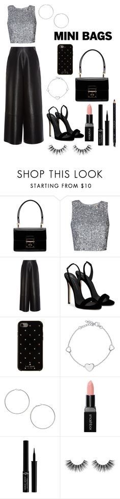 """Mini Bags"" by dazzlers ❤ liked on Polyvore featuring Dolce&Gabbana, Lanvin, Giuseppe Zanotti, Kate Spade, BERRICLE, Miss Selfridge, Smashbox, Giorgio Armani, Velour Lashes and Gucci"