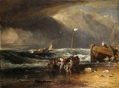 Joseph Mallord William Turner, A Coast Scene with Fishermen Hauling a Boat Ashore ('The Iveagh Seapiece') c.1803-4