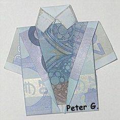 Prima Anleitung für Hemd basteln aus Geldscheine