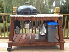 deck weber grill table - Google Search