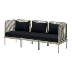 ENHOLMEN Sofa combination IKEA. Use diff color cushions. 2 corner pieces and 1 middle piece come to $277.