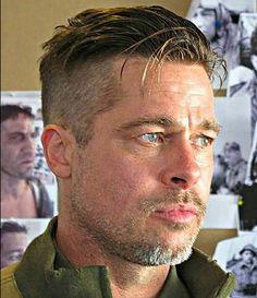 99 Beautiful Medium Length Hairstyles Ideas For Men In 2019 – Men's Hairstyles and Beard Models Brad Pitt Fury Haircut, Brad Pitt Haarschnitt, Medium Hair Styles, Short Hair Styles, Buzz Haircut, Quiff Haircut, Look Man, Undercut Hairstyles, Easy Hairstyles