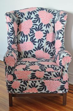 caitlin wilson slipcovered wingback- check website for other slipcovers Funky Furniture, Home Decor Furniture, Furniture Makeover, Furniture Design, Caitlin Wilson Design, Slipcovers For Chairs, Wingback Chairs, Chair Fabric, Curtain Fabric