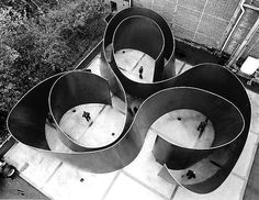 Richard Serra. Grid/Matrix. interaction of space and objects creating a specified path for both eye and body to follow.
