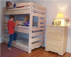 Bunk bed PLANS you can buy - thanks to the awesome Nicola S!