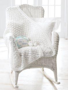 Blanket And Booties - Free Crochet Pattern - (yarnspirations)
