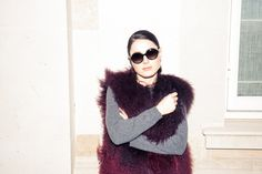 Inside Huggle App Founder Valerie Stark's London Closet: Valerie Stark's closet has one of the biggest CHANEL collections we've ever seen. In collaboration with Huggle. -- Fur vest and circle sunglasses     coveteur.com