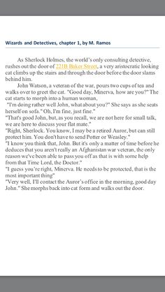 This is chapter one of my Potterlock fanfiction, Wizard and Detectives! Please comment your opinions!