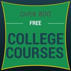 Over 800 free college courses. Take them for the certificate, to complete high s… Over 800 free college courses. Take them for the certificate, to complete high school credit, or simply for the knowledge! - Home School blo High School Credits, Free Education, Education College, Business Education, Music Education, College Classes, Primary Education, Business Technology, Education System