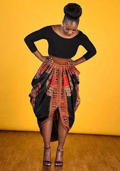 Black Irregular Geometric Print Pleated Tribal Round Neck 3/4 Sleeve Maxi Dress