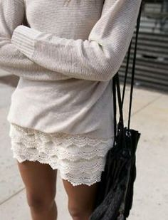 sweaters 'n' lace