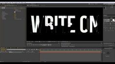 Text Wirte On Effect - After Effects Quick-Tip #1