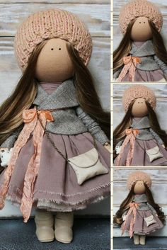 Nursery Doll Tilda Doll Textile Doll Handmade Doll Brown Doll Fabric Doll Rag Doll Decor Doll Baby Doll Unique Doll Muñecas by Margarita  This is unique magic doll created by Master Margarita Hilko (Kiev, Ukraine).  Doll is 29-31 cm tall. Doll can be a great present for your children, family, colleages or friends.  Style of doll easily helps to use such doll as home decoration and interior design.