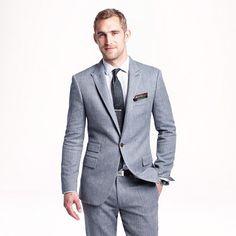 Ludlow suit jacket in herringbone Italian cotton-silk - lightweight suiting - Men's Ludlow Shop - J.Crew