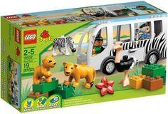 LEGO Duplo 10502 Zoo Bus Safari Animals Ostrich Zebra Lioness Lion New In Box Special Gift Fast Shipping and Ship Worldwide. Lego Duplo, Lego Toys, Toddler Preschool, Toddler Toys, Kids Toys, Zoo Lego, Safari Bus, Construction Toys For Boys, Figurine Lego