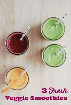 """""""Kid-Approved Veggie Smoothies: 3 Fresh Takes"""" A asked for a smoothie the other day when we passed by a shop. Might try making these w/her."""