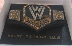 how to make a wwe championship belt cake: Wrestling Birthday Parties, Wwe Birthday, Birthday Ideas, Wrestling Cake, Wrestling Party, Wwe Cake, Wwe Party, Cakes For Boys, Boy Cakes