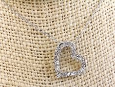 Designer Inspired Open Heart Love Crystal CZ Pendant Necklace $12.75