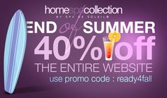 End of #Summer Sale: 40% off the entire website. #beauty #skincare