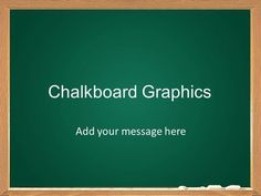 editable chalkboard allowing you to add your own text and images