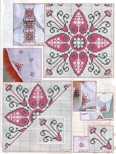 Cross-stitch Biscornu Set... no color chart available, just use pattern chart as your color guide.. or choose your own colors... motivo