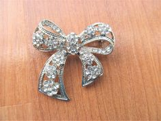 Vintage Rhinestone, Ribbon Bows, Vintage Gifts, Dress Ideas, My Ebay, Advertising, Wedding Dress, Brooch, Store