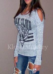 Urban Tiger Off Shoulder Sweater